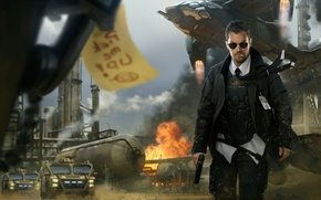 Picture the explosion, gun, technique, Special agent