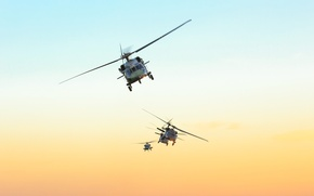 Picture the sky, sunset, FAB, Black hawk, Air force of Brazil, The air force of Brazil