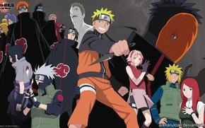Wallpaper Sakura, Sasuke, Naruto, Toby, Minato, Kakashi, Akacke, Kushina