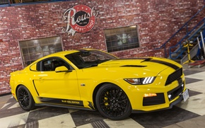 Picture Mustang, Ford, Blue, Edition, Roush, 2015, R2300, Oval