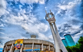 Picture the sky, HDR, circus, Almaty
