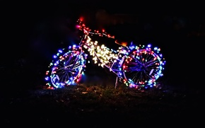 Picture lights, gift, new year, Christmas, garland