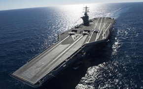 "Wallpaper sea, from the, (CVN-68), the carrier, first, USS Nimitz, type ""Nimitz"""