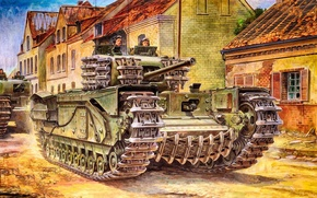 Wallpaper during the Second world war, Churchill, Art, Churchill, Infantry tank army, Tank