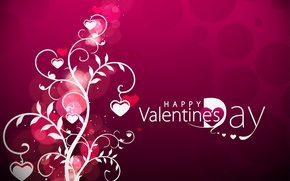 Wallpaper vector, hearts, Valentine's day, Valentine's Day