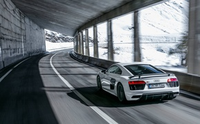 Picture winter, snow, Audi, winter, snow, R8, audiclub