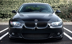 Picture black, bmw, 3 series