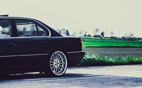 Picture BMW, Boomer, BMW, Drives, Black, Stance, Side, E38, Bimmer, 740iA