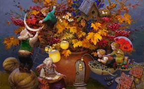 Wallpaper grandpa's tales, childhood, magic, lullaby, Victor Nizovtsev