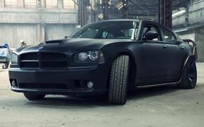 Picture black, Matt, Dodge, black, Dodge, Charger, the charger, Fast and furious 5, Fast Five, matte