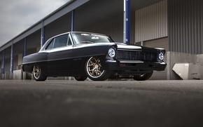 Picture retro, Chevrolet, tuning, Nova, ramp, warehouses