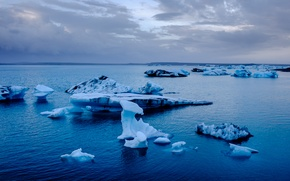 Picture Iceland, Iceland, Jökulsárlón, the glacial lagoon, The jökulsárlón