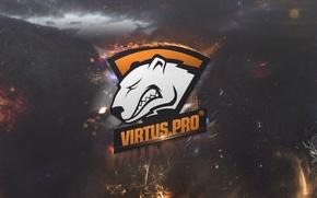 Wallpaper wallpaper, logo, dota 2, virtus.pro, virtus pro