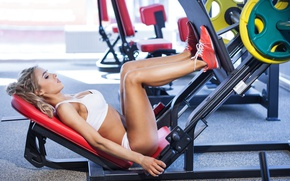 Picture legs, blonde, workout, fitness, gym