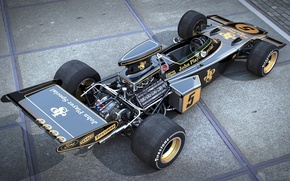 Picture Formula, art, dangeruss, Lotus 72