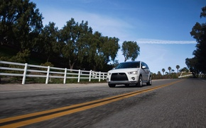 Picture road, machine, road, roads, auto walls, Mitsubishi, mitsubishi outlander gt