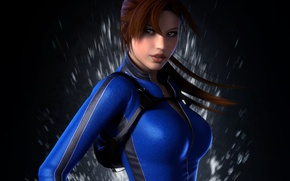 Picture girl, squirt, background, art, lara croft, wetsuit