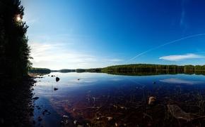Picture summer, the sky, grass, river, stones, trail, dibr, Zadok