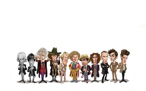 Picture art, white background, Doctor Who, Doctor Who
