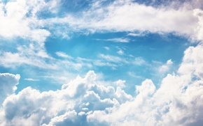 Picture white, the sky, clouds, blue