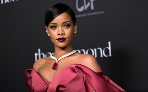 Picture portrait, makeup, Rihanna, Rihanna
