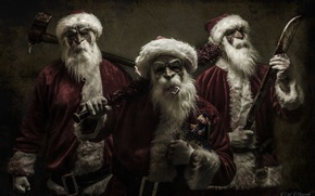 Picture mask, axe, Santa Claus, machete, bit