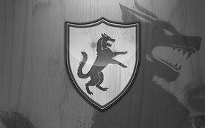 Picture wolf, the series, coat of arms, A Song of Ice and Fire, Winter is coming, …