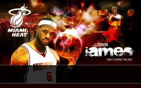 Picture James, NBA, MVP, Miami Heat, LBJ