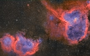 Picture space, nebula, Soul, Heart