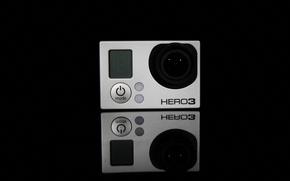 Picture Black, camera, action, Hero3, Gopro