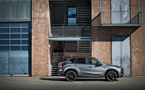 Picture style, grey, black, Mazda, drives, side, grey, CX-5