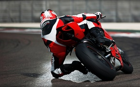Picture track, motorcycle, Ducati, motorcyclist, superbike.Ducati, pinigale 1199
