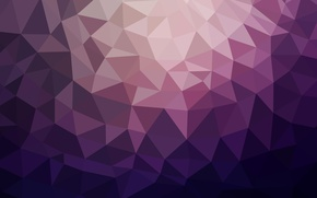 Picture purple, line, blue, paper, pink, triangles, planet, angle, faces, geometry, polygons, combination