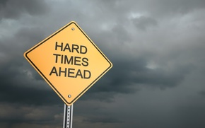 Picture sign, depression, difficult time