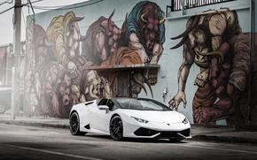 Picture Lamborghini, white, Lamborghini, Huracan, hurakan