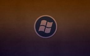 Picture round, logo, windows, logo, dark background