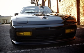 Picture auto, Porsche, Porsche, black, the front, 944