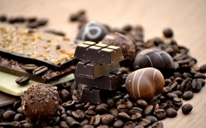 Picture black, coffee, chocolate, grain, candy, sweet, milk