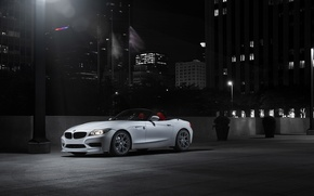 Picture white, night, BMW, BMW, white, Roadster