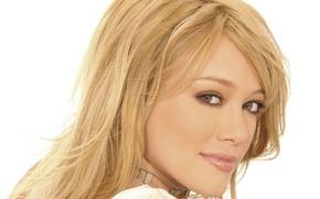 Picture look, girl, model, makeup, actress, blonde, singer, Hilary Duff, Hilary Duff, hair