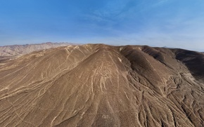 Picture figure, plateau, Peru, Palpa