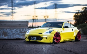 Picture car, tuning, stance, nissan 350z, rocket bunny
