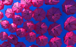Picture the sky, background, umbrellas