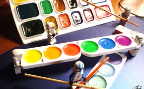 Picture paint, Star Wars, artist, LEGO, brush, lego, star wars