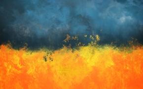 Picture Smoke, Fire, Ukraine