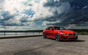 Picture the sky, orange, clouds, bmw, BMW, promenade, orange, f82