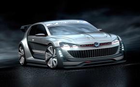 Picture Concept, Volkswagen, Vision, GTI, Volkswagen, Supersport, Gran Turismo, 2015