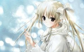 Wallpaper girl, ring, kasugano sora, yosuga no sora, bows, tape