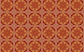 Picture circles, pattern, brown