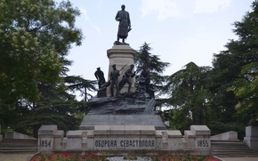 Picture monument, General, engineer, Sevastopol, Totleben